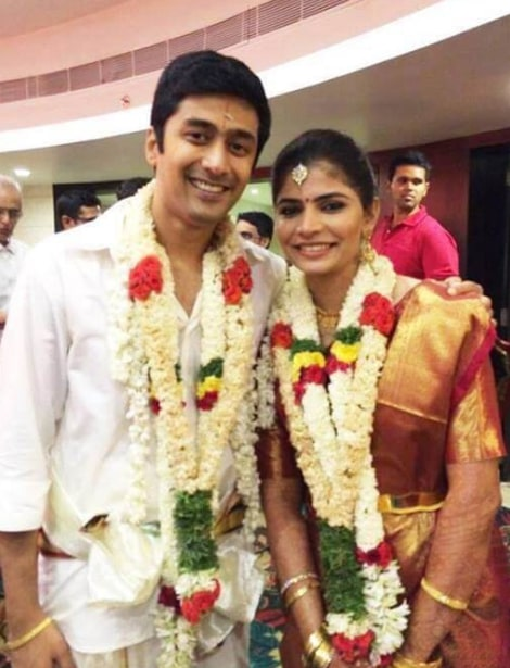 Chinmayi with her husband