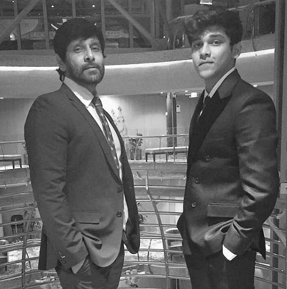 Dhruv with his father Vikram