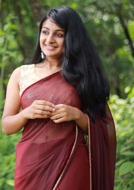 Esther Anil in saree