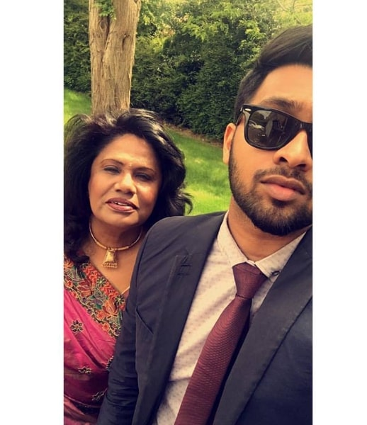 Inno Genga with his mother