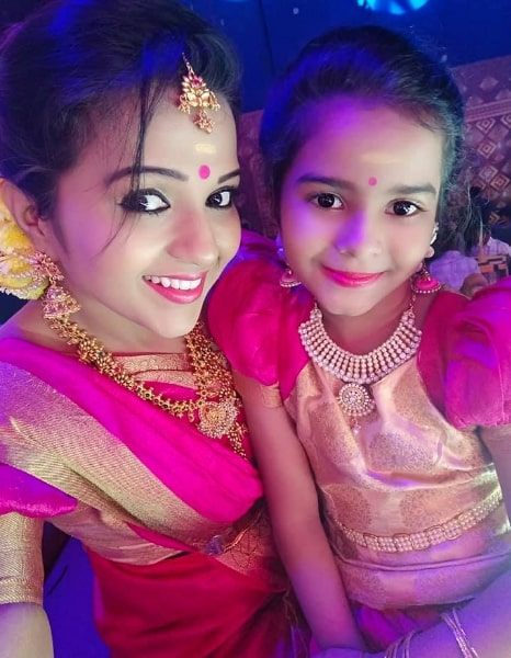 Krithika Laddu with her Daughter
