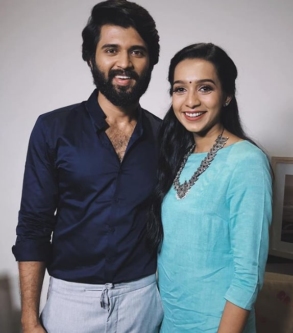 Sanchana Natarajan with Vijay Deverakonda