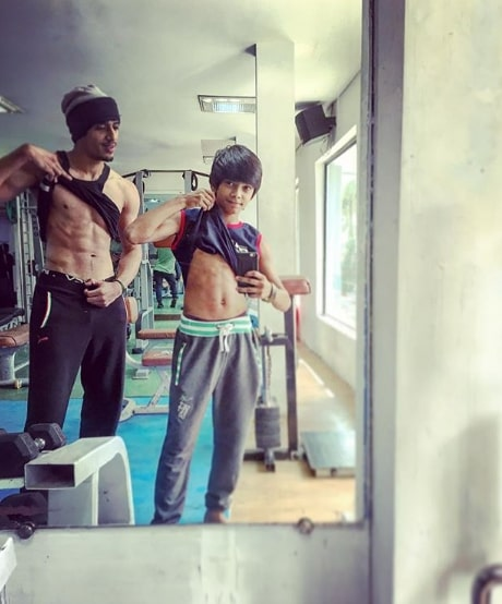 Shariq Hassan with his Brother