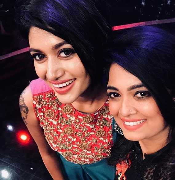 Soundarya Bala Nandakumar with Oviya