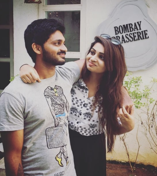 Nakshathra Nagesh With  her brother | Nakshathra Nagesh family